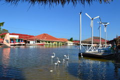 A marsh scene. In Hua Hin Sam Phan Nam Floating market Royalty Free Stock Photos