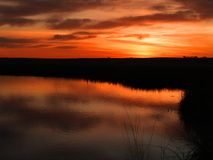 Marsh Sunrise Royalty Free Stock Photo