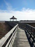 Marsh Walk in Southport, Nord Carolina Fotografie Stock