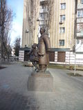 Marshak in voronezh. Marshak& x27;s monument in voronezh. view fron the back royalty free stock photos