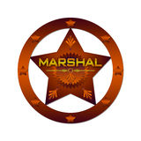 Marshal abstract badge Royalty Free Stock Images