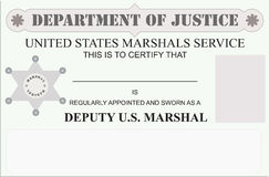 Marshal license Stock Photography