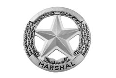 Marshal star badge Royalty Free Stock Photography