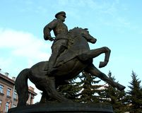 Marshal Zhukov monument. Equestrian monument to marshal Georgy Zhukov, Ekaterinburg Stock Photos