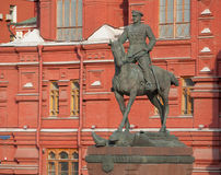 Marshal Zhukov monument Stock Photography