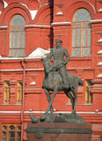 Marshal Zhukov monument Royalty Free Stock Images