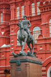 Marshal Zhukov monument in Moscow Royalty Free Stock Photos