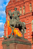 Marshal Zhukov monument Stock Image