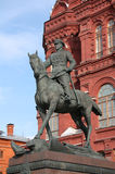 Marshal Zhukov's statue Stock Photography
