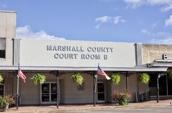 Marshall County Court Room B. Located in Holly Springs Mississippi stock photography