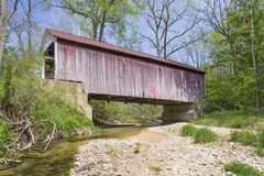 Marshall Covered Bridge Royaltyfri Fotografi