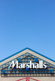 Marshall Department Store exterior. SEASIDE, CA/USA - MARCH 27, 2014:  Marshall Department Store exterior.  Marshalls, Inc. is a chain of 750 American Royalty Free Stock Photo