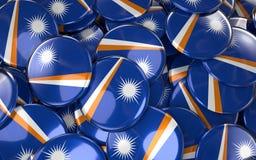 Marshall Islands Badges Background - Stapel von Marshall Islands Fl stock abbildung