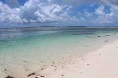 Marshall Islands Beach. Remote Marshall Island beach in summer Royalty Free Stock Images
