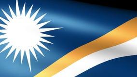 Marshall Islands Flag Waving ilustración del vector