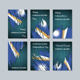 Marshall Islands Patriotic Cards für Nationaltag Stockfotografie