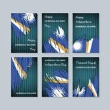 Marshall Islands Patriotic Cards para el día nacional Fotografía de archivo