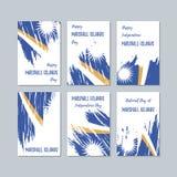 Marshall Islands Patriotic Cards para el día nacional stock de ilustración