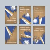 Marshall Islands Patriotic Cards para o dia nacional ilustração do vetor