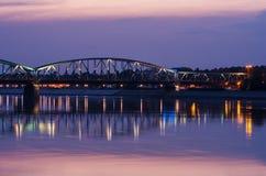 Marshall Jozef Pilsudski Bridge (1934) inTorun, Poland Royalty Free Stock Photos