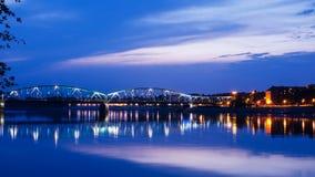 Marshall Jozef Pilsudski Bridge (1934) inTorun, Poland Stock Photo