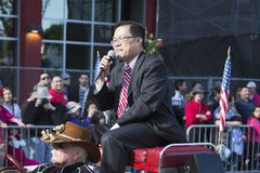 Marshall Mike Fong magnífico, 115o Dragon Parade de oro, Año Nuevo chino, 2014, año del caballo, Los Ángeles, California, los E.E Imagenes de archivo
