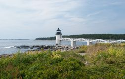 Marshall Point Light. House in Port Clyde, Maine.  This is the lighthouse that was used in the movie Forrest Gump Stock Photo