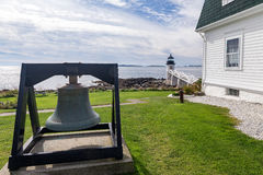 Marshall Point Light as seen from the rocky coast of Port Clyde, Royalty Free Stock Photography
