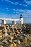 Marshall Point Light at sunset Royalty Free Stock Photography