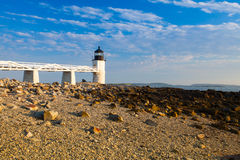Marshall Point Light at sunset Royalty Free Stock Image