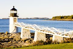 Marshall Point Lighthouse. Maine, USA Stock Photography