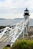 Marshall Point lighthouse. On Atlantic coast of Maine Stock Photos