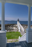 The Marshall Point Lighthouse. As seen from the Light house keepers lighthouse Stock Photography