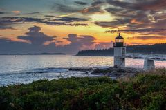 Marshall Point Lighthouse Greenery royalty free stock image