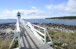Marshall Point Lighthouse i Maine Royaltyfria Foton