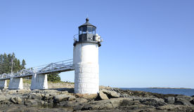 Marshall Point Lighthouse in Maine. Marshall Point Lighthouse by the rugged coast of Maine Stock Photos