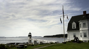 Marshall Point Lighthouse. In Port Clyde, Maine.  This is the lighthouse that was used in the movie Forrest Gump Stock Photo