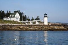 Marshall Point Lighthouse on Rocky Coast in Maine Stock Photos