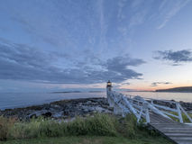 Marshall Point Lighthouse at Sunset Stock Image