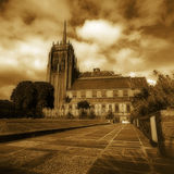 Marshall's College in Aberdeen, UK Platinum print Royalty Free Stock Images