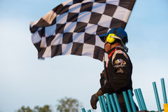 Marshall waving checker flag Stock Photos