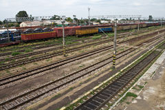 In marshalling yard Royalty Free Stock Images