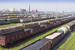 Marshalling yard Royalty Free Stock Photo