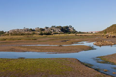 Marshes in Cantabria, Spain Stock Photo