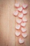 Marshmallow μορφής καρδιών Στοκ Εικόνες
