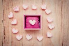 Marshmallow μορφής καρδιών Στοκ Φωτογραφία