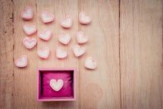 Marshmallow μορφής καρδιών Στοκ φωτογραφία με δικαίωμα ελεύθερης χρήσης