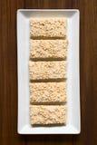 Marshmallow, σκαμένοι Quinoa και φραγμοί καρύδων Στοκ φωτογραφίες με δικαίωμα ελεύθερης χρήσης