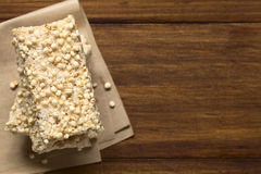 Marshmallow, σκαμένοι Quinoa και φραγμοί καρύδων Στοκ Εικόνες