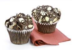 marshmallow σοκολάτας muffins στοκ φωτογραφίες με δικαίωμα ελεύθερης χρήσης